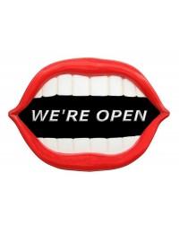 Mund *We are Open* schwarz