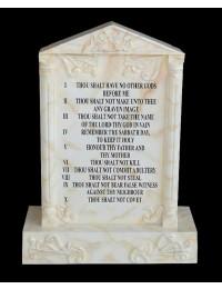 Grabstein mit Marmoreffekt Die 10 Gebote