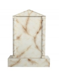 Grabstein mit weißem Marmoreffekt 1