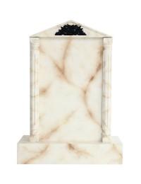 Grabstein mit weißem Marmoreffekt 3