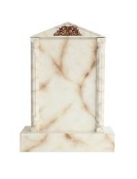 Grabstein mit weißem Marmoreffekt 4