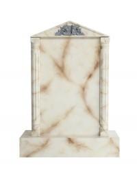 Grabstein mit weißem Marmoreffekt 5
