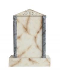 Grabstein mit weißem Marmoreffekt 8