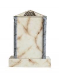 Grabstein mit weißem Marmoreffekt 9