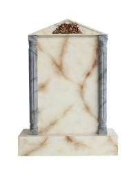 Grabstein mit weißem Marmoreffekt 11