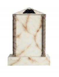 Grabstein mit weißem Marmoreffekt 14