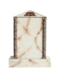 Grabstein mit weißem Marmoreffekt 15