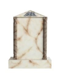 Grabstein mit weißem Marmoreffekt 16