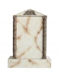 Grabstein mit weißem Marmoreffekt 17
