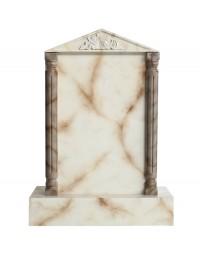 Grabstein mit weißem Marmoreffekt 18