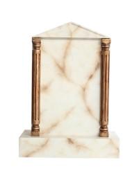 Grabstein mit weißem Marmoreffekt 19