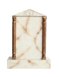 Grabstein mit weißem Marmoreffekt 20