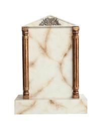 Grabstein mit weißem Marmoreffekt 21