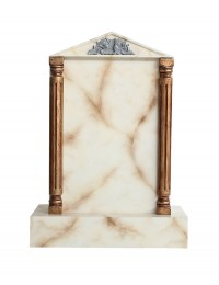 Grabstein mit weißem Marmoreffekt 22