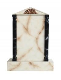 Grabstein mit weißem Marmoreffekt 27