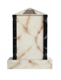 Grabstein mit weißem Marmoreffekt 29