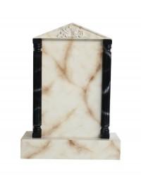 Grabstein mit weißem Marmoreffekt 30