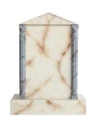 Grabstein mit weißem Marmoreffekt 31