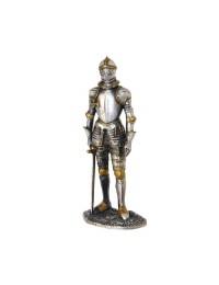 Ritter Silber und Gold mit Schwert