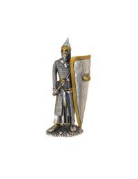 Ritter Silber und Gold mit großem Schild