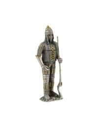 Ritter Silber und Gold mit Waffe