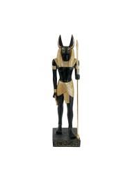 Anubis Statue Schwarz Gold Heller