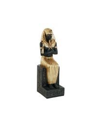 Tutanchamun Statue Sitzend Schwarz Gold
