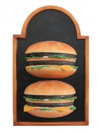 2 Burger auf Angebotstafel
