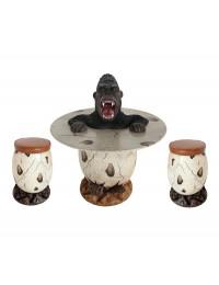 Wütender Gorilla im Ei Tisch und Eihocker