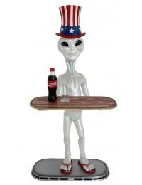 Alien Butler mit amerikanischem Hut