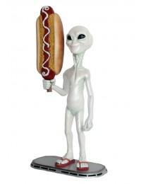 Alien mit Hotdog
