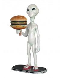 Alien amerika mit Burger