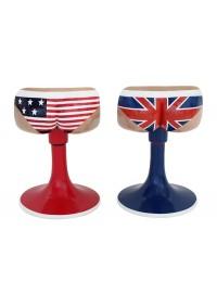 Amerikanische und britische Unterwäschestühle