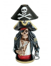 Piratenskelett Lampe schwarz