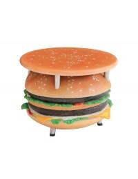 Tisch mit Burgerständer und kleiner Fläche