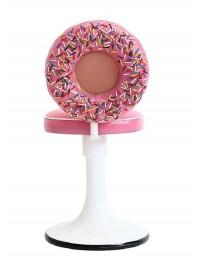 Donutstuhl mit rosa Polster