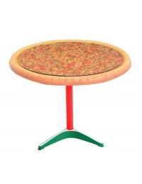 Pizzatisch auf großem Ständer mit Glasplatte