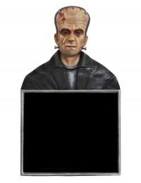 Monster Frankenstein Büste Angebotstafel