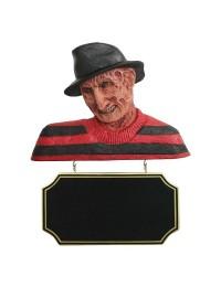 Monster Freddy Krüger Büste mit Angebotsschild