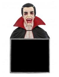 Dracula Büste Angebotstafel