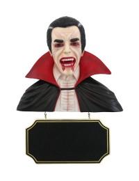 Dracula Büste mit Angebotsschild