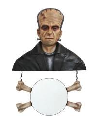 Monster Frankenstein Spiegel mit Knochen