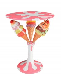 Eiscremetisch mit 3 Eistüten