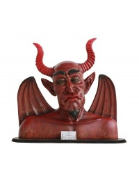 Teufel Büste Visitenkartenhalter