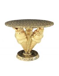 Tisch mit 3 Eistüten Gold