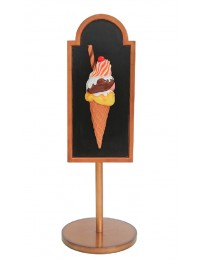 Angebotsschild Eis mit Röhrchen