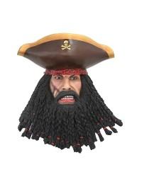 Pirat Blackbeard Kopf Wanddeko