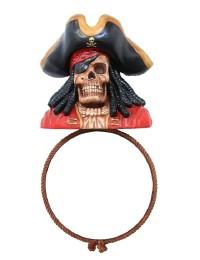 Piratenskelett Spiegel Rund