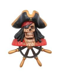 Piratenskelett mit Steuer Wanddeko
