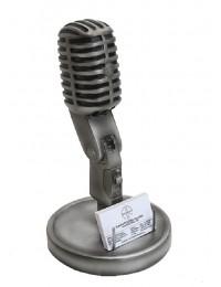 Mikrofon mit Visitenkartenhalter